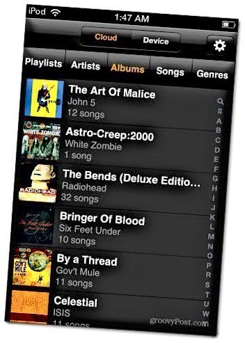 Amazon Cloud Player iPod