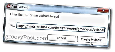Podcast-URL für Groovypost