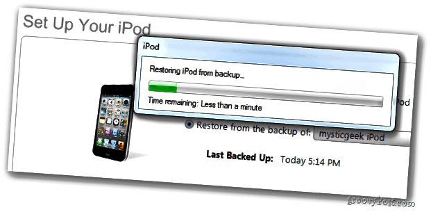 IPodin palauttaminen