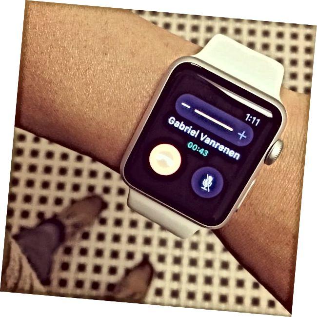 Πραγματοποίηση κλήσης «gadget επιθεωρητή» στο #Apple #Watch μου!