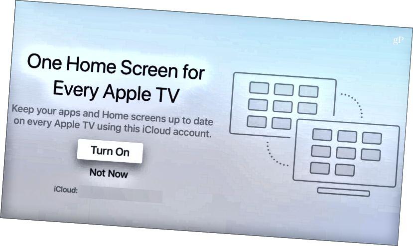 Einn heimaskjár Sérhver Apple TV