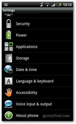 Android PIN kóða öryggi