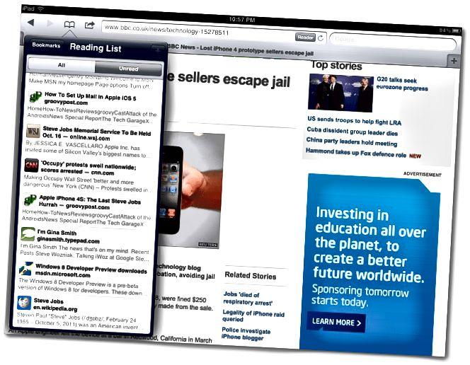 IPad Safari Reader