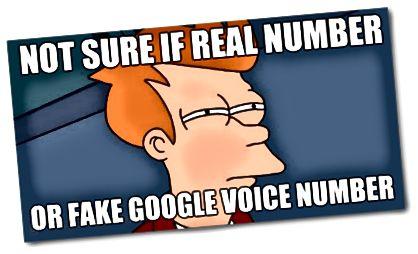 Δεν είμαι σίγουρος αν ο πραγματικός αριθμός ή ο ψεύτικος αριθμός φωνής google