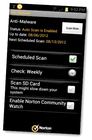 norton android anti malware