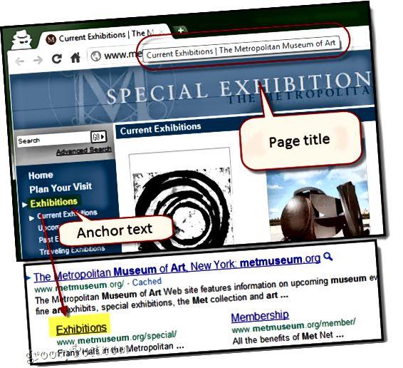 sivustolinkin otsikon vaihtaminen googlessa