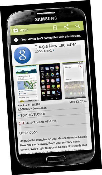 google sada pokretač non nexus uređaj kompatibilan nespojivost google play trgovina pogreška uređaja preuzimanje aplikacije pokretač aplikacija prilagodi android