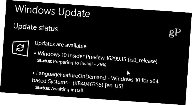 Windows 10 Build 16299-15 Actualización acumulativa