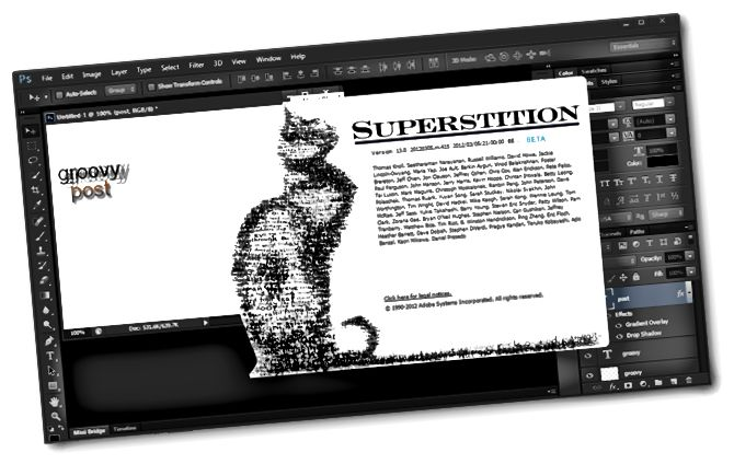 photoshop cs 6 kočka obrazovka
