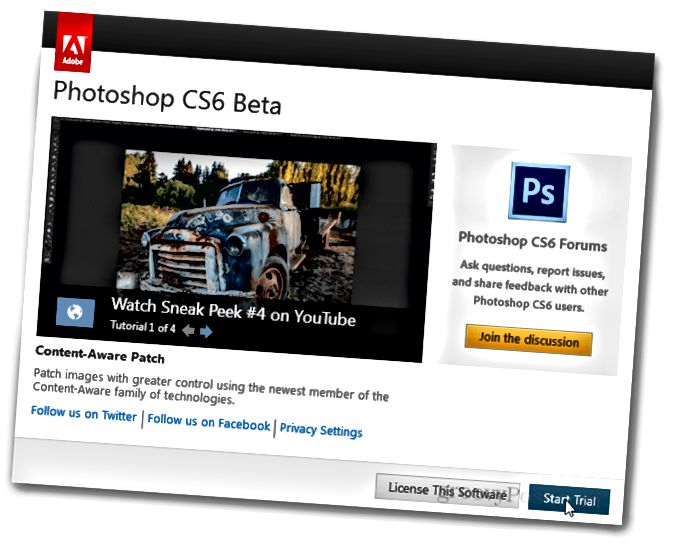 photoshop cs6 instalace dokončena