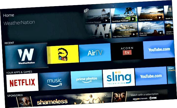 aplikacija nameščena Fire TV