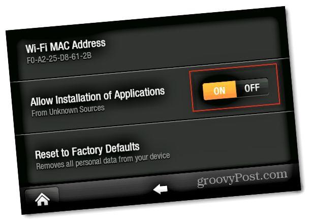 Tillat installasjon av applikasjoner