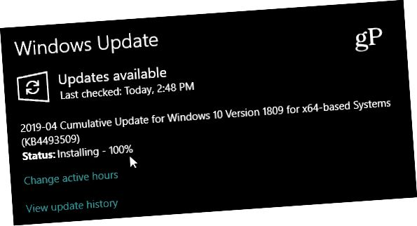 Windows 10 1809 kb4493509