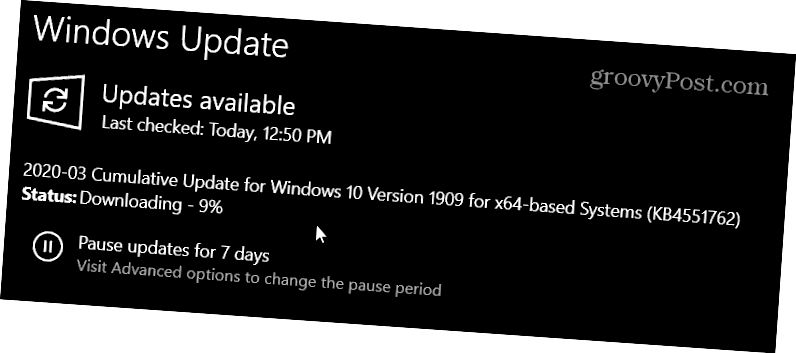 KB4451762 Windows 10 1903 ja 1909