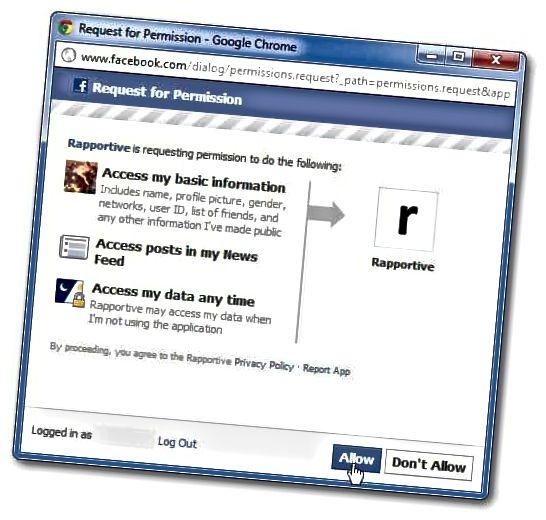 فیس بک کی اجازت