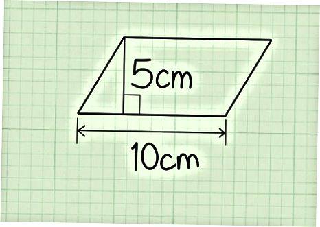 Ikki o'lchamli paralelogrammalarning maydonini topish