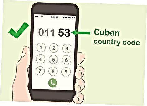 Telefon orqali Kubaga qo'ng'iroq qilish