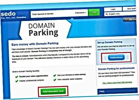 Печелете пари чрез вашите домейни