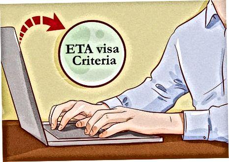 Elektron sayohat ma'muriyati (ETA) vizasidan foydalanish