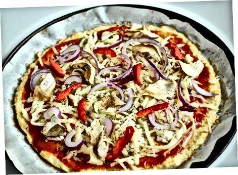 Приготвяне на пица с кори от карфиол