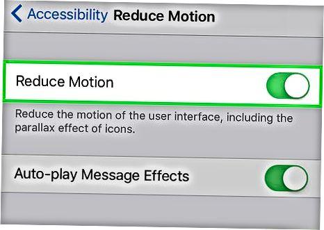 Reduce Motion xususiyatidan foydalanish