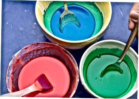 Изработване на кремообразна боя на тротоара