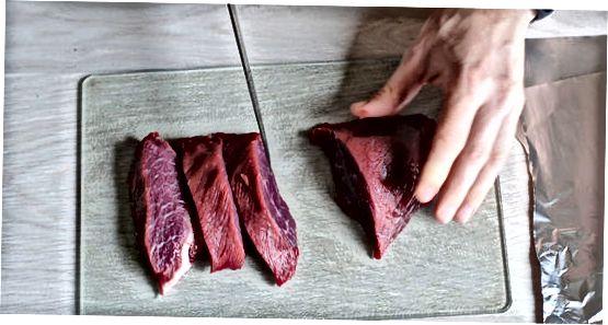Folyo paketlarida pishirilgan biftek
