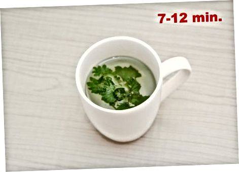 Приготвяне на чай от прясна мента