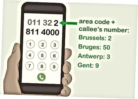 Belgiyada kontaktga qo'ng'iroq qilish