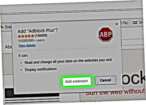 Adblock Plus (Google Chrome) dan foydalanish