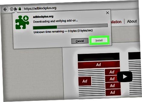 Adblock Plus (Firefox) dan foydalanish