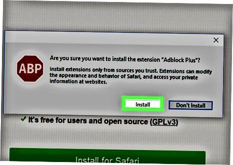 Adblock Plus (Safari) dan foydalanish