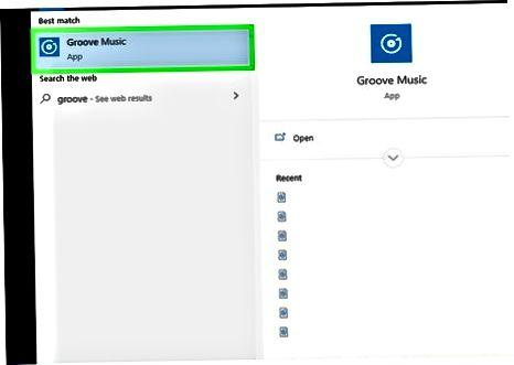 Windows-da Groove-dan foydalanish