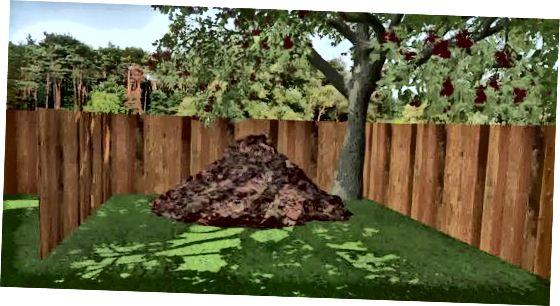 Kompost qoziq poydevorini o'rnatish