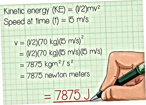 Joulesda kinetik energiyani hisoblash