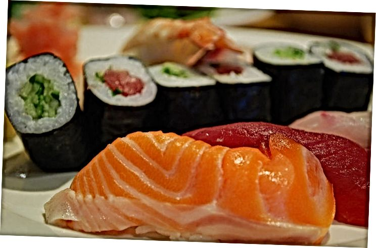Приготвяне на морски дарове Нигири суши