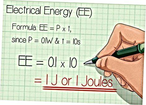 Joulesda elektr energiyasini hisoblash