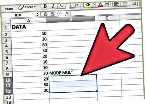 Використання функції MODE.MULT