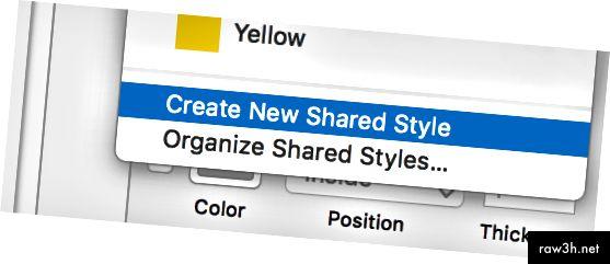 إنشاء نمط مشترك جديد