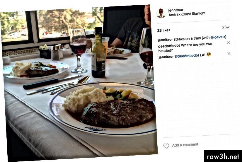 في حين أن Instagramming بوقاحة ، أدركت أنهم كانوا يقولون النعمة. من باب المجاملة.