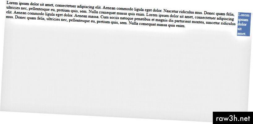 Сега страничната лента изглежда сякаш е поставена след основната област на съдържание в html документа