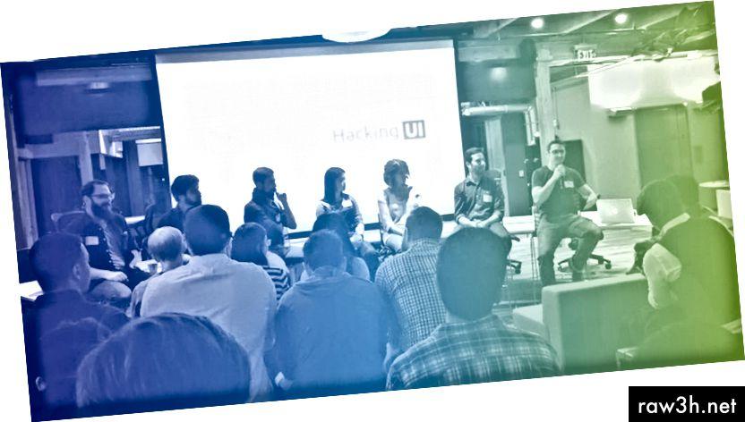 """Z akce Hacking UI """"Scaling a Design Team"""" v San Franciscu, listopad 2015 (další obrázky z této akce jsou zde, zvukový záznam zde)"""