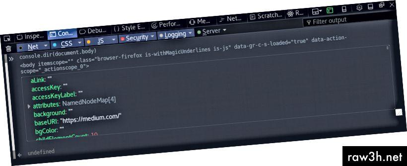 Chrome показва dir по различен начин
