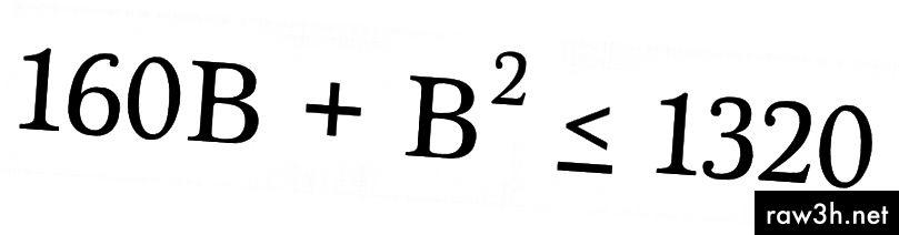 Všimněte si, že máme dvě oblasti 10 (8) B, takže součet 160B.