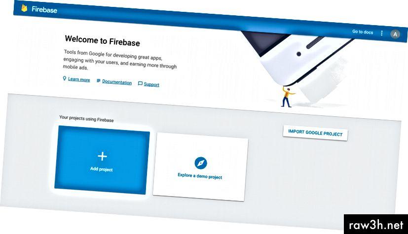 Конзола на Firebase