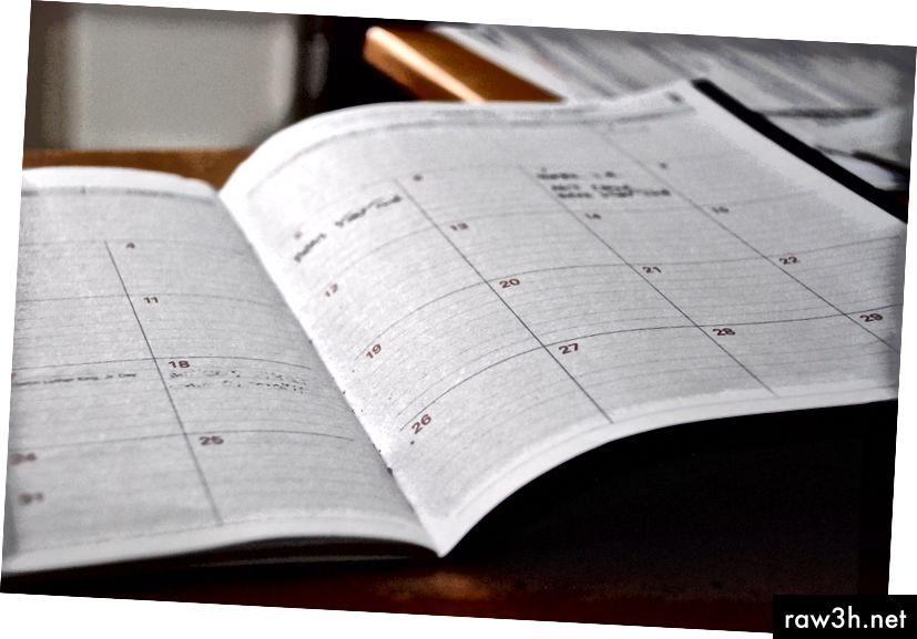 Pokud není v kalendáři, není to skutečné.