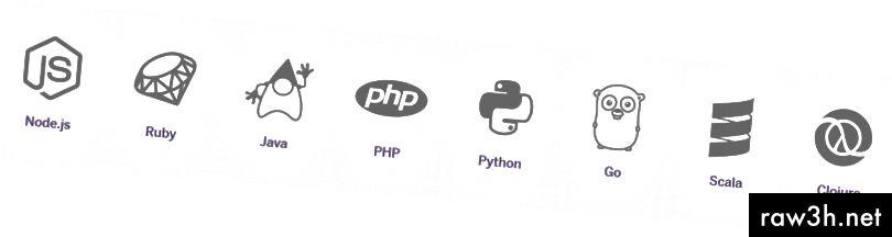 От май 2017 г. езиците за програмиране, които можете да хоствате под Heroku
