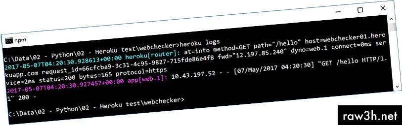 """""""Heroku logs"""" е решаваща команда, която трябва да стартирате, за да видите какво се случва във вашия сървър на приложения"""