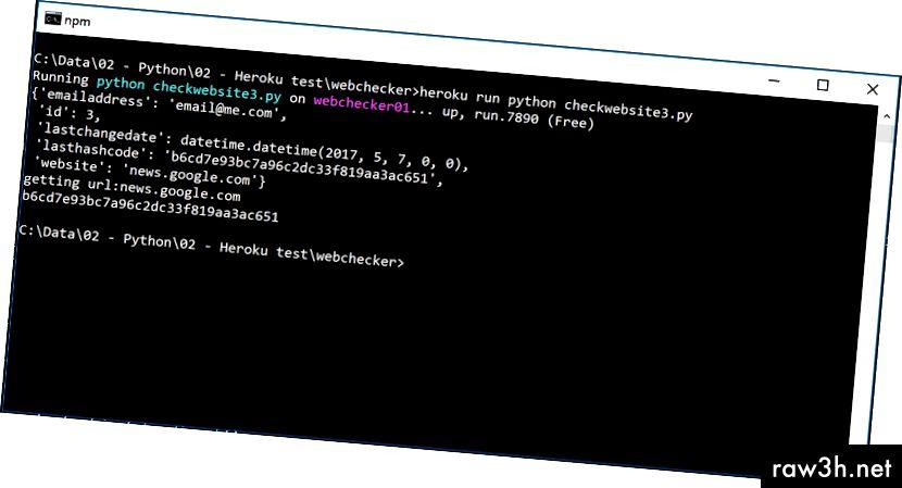 Dette er en fantastisk måde at sikre, at din kode kører så godt på heroku-skyen som lokalt
