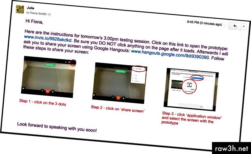 تتطلب الأدوات المجانية مثل Google Hangouts المزيد من التعليمات. اجعلها مرئية وبسيطة للمستخدم.